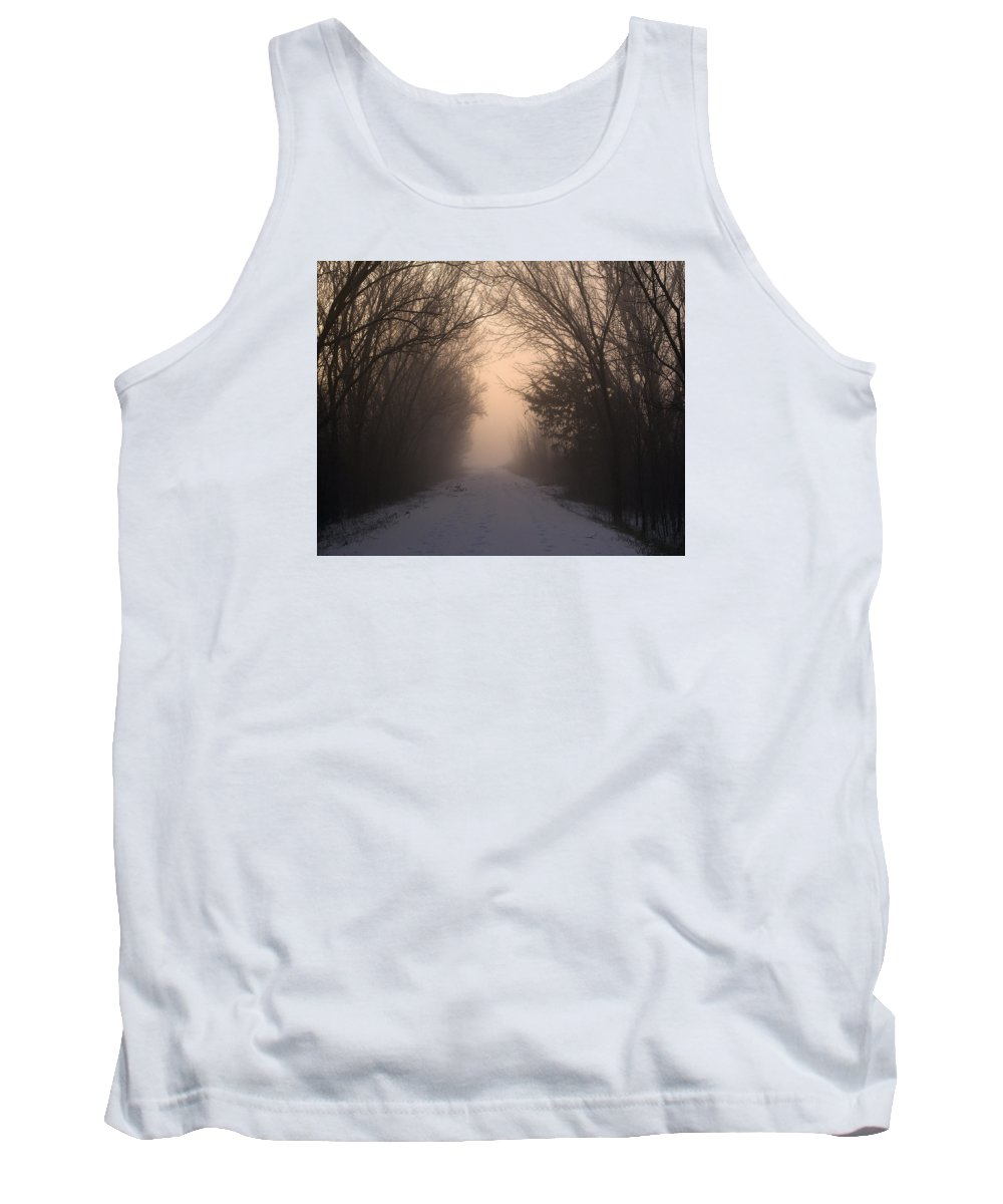 Sunrise Tank Top featuring the photograph Mystic Trail by Pamela Peters
