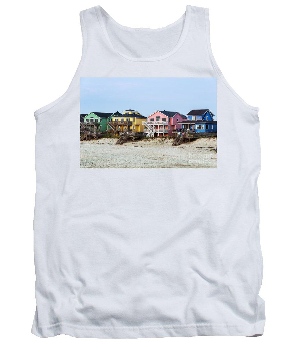 Beach Tank Top featuring the photograph Nags Head Beach Houses by John Greim