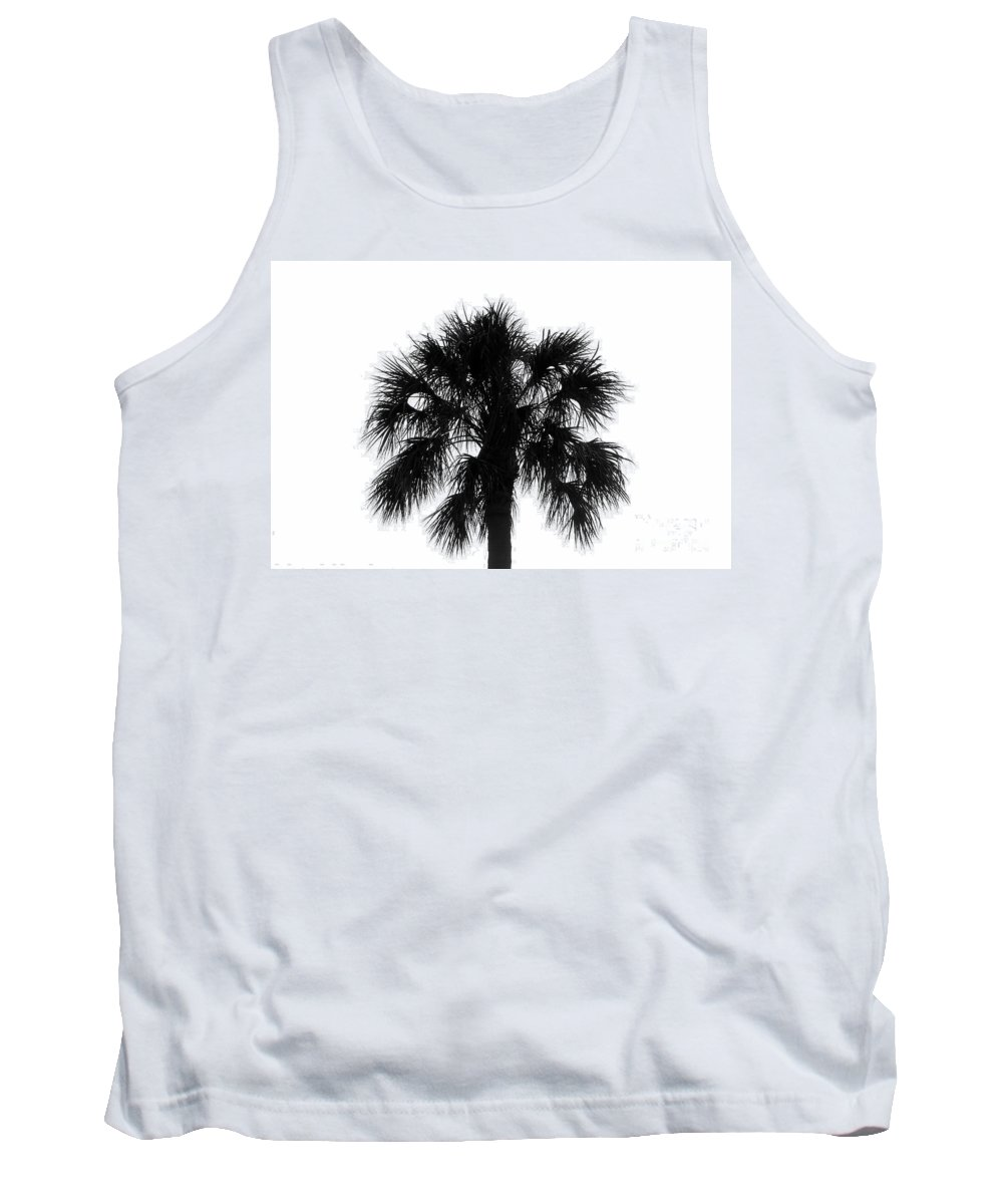 Palm Tree Tank Top featuring the photograph Naked Palm by David Lee Thompson