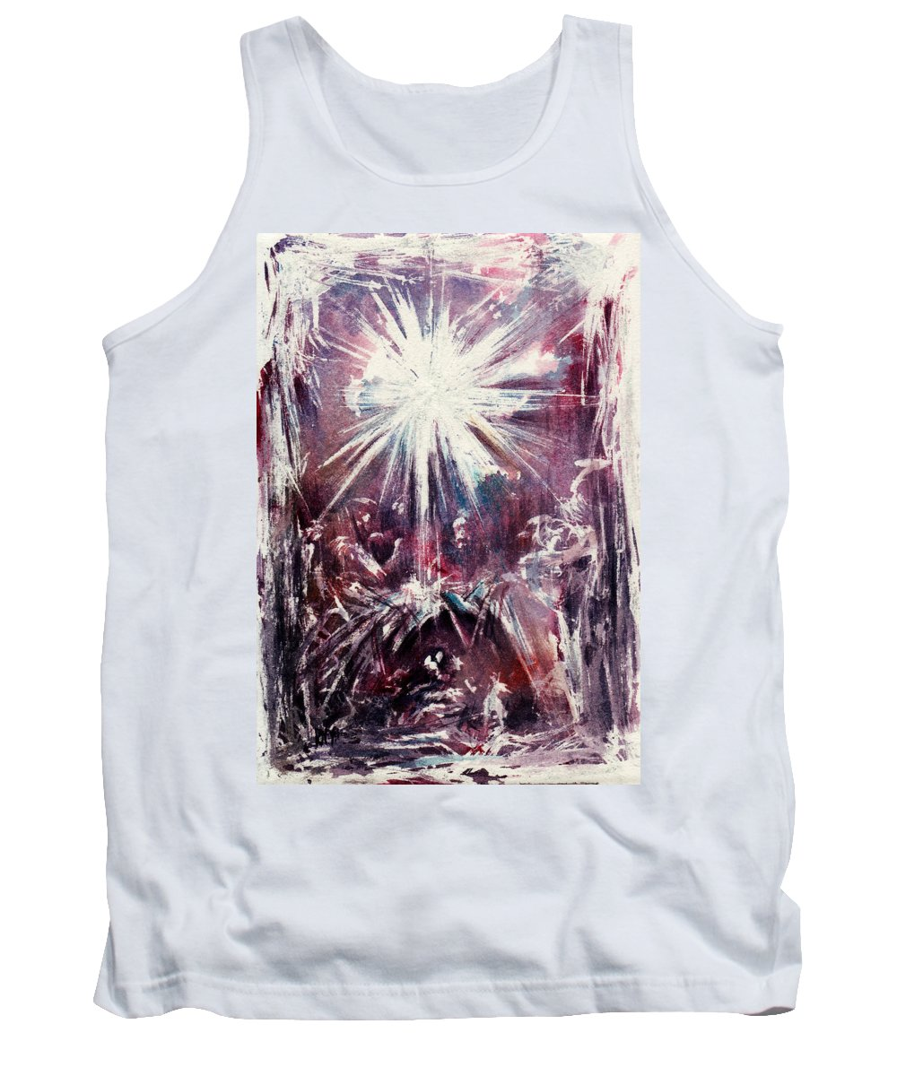 Nativity Tank Top featuring the painting Nativity 1 by Rachel Christine Nowicki