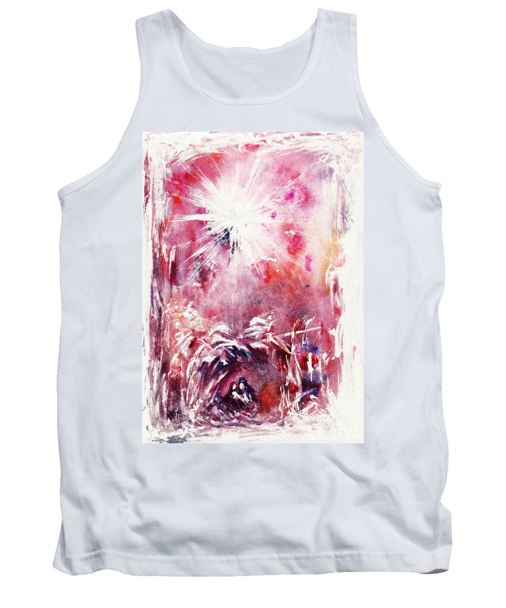 Nativity Tank Top featuring the painting Nativity 5 by Rachel Christine Nowicki