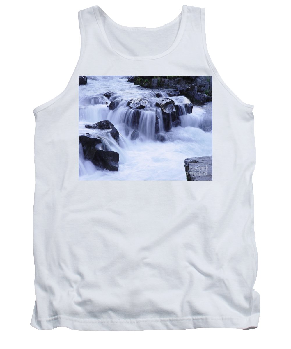 Waterfall Tank Top featuring the photograph Natural Bridges Falls 01 by Peter Piatt