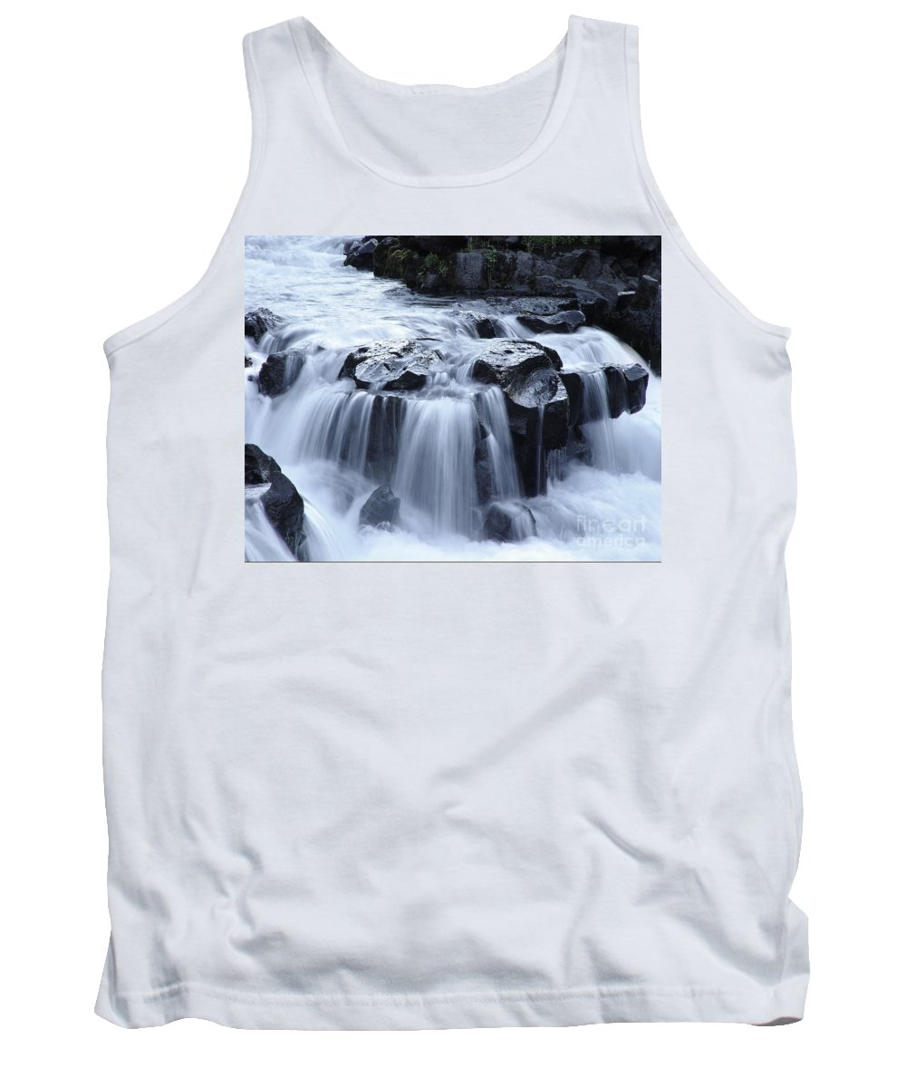 Waterfall Tank Top featuring the photograph Natural Bridges Falls 02 by Peter Piatt