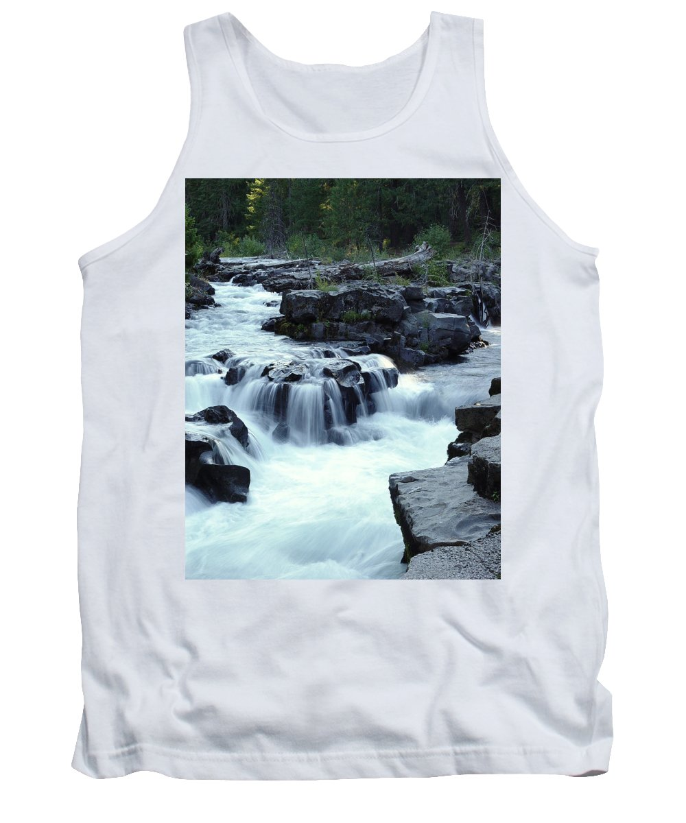 Waterfall Tank Top featuring the photograph Natural Bridges Falls 03 by Peter Piatt