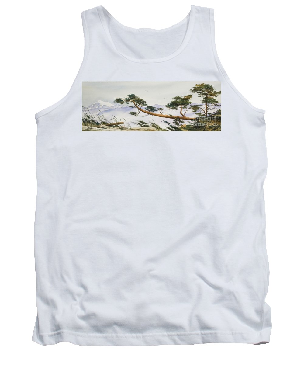 Landscape Fine Art Print Tank Top featuring the painting Natures Creation by James Williamson