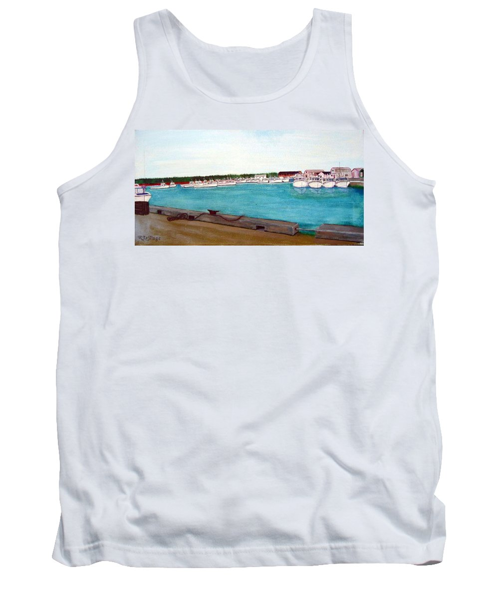 Naufrage Pei Tank Top featuring the painting Naufrage Harbour Pei by Richard Le Page