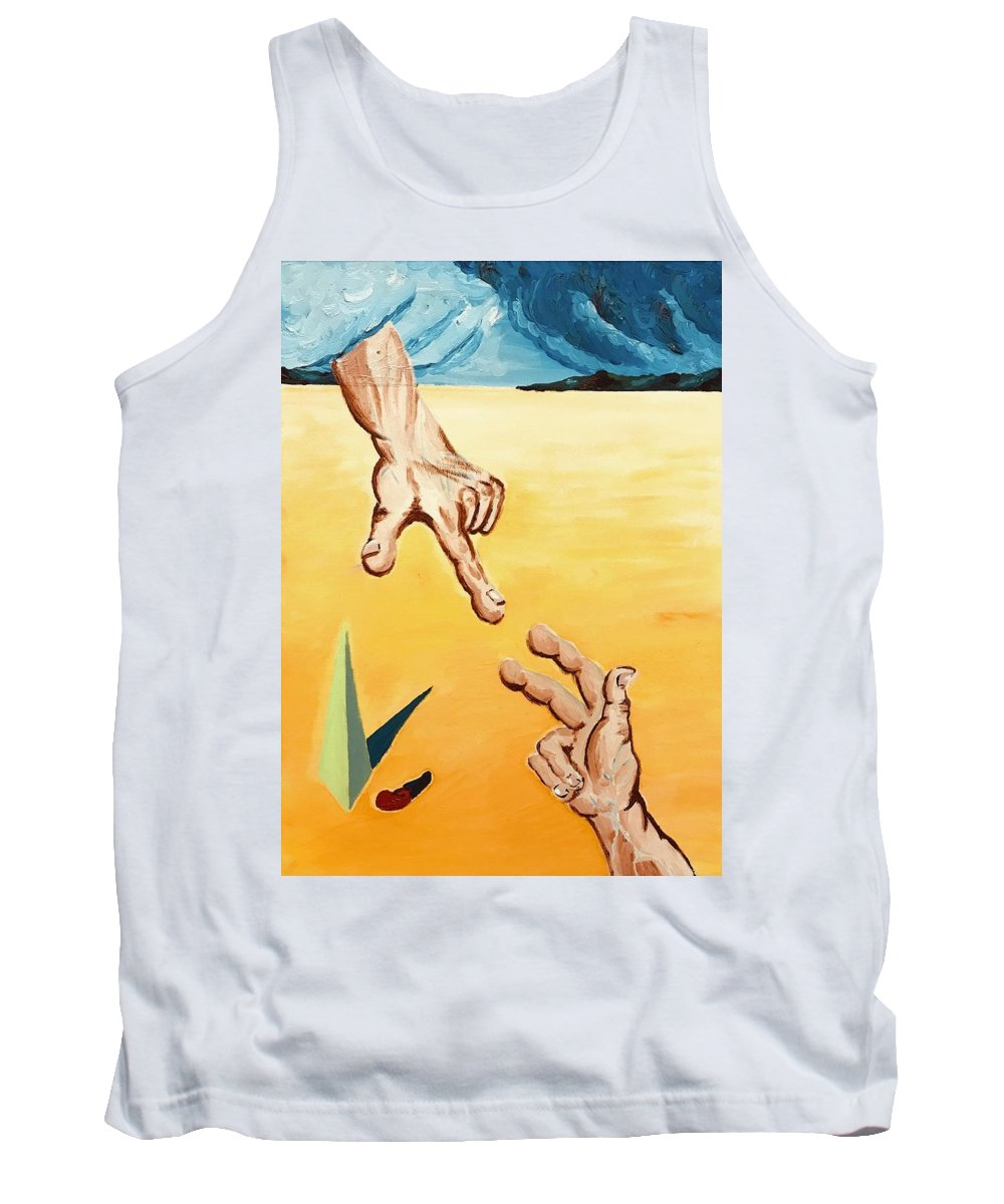 Surrealism Tank Top featuring the painting Nazareno Cinque by Mark Zanni