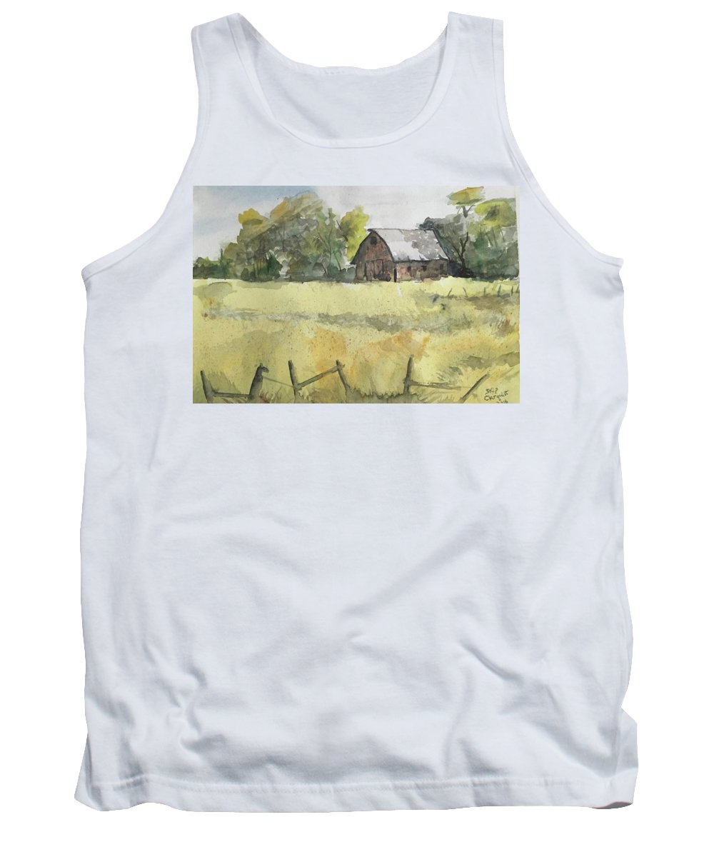 Rural Landscape. Tank Top featuring the painting Near Cedar Falls, Ia by Skip Clarquist