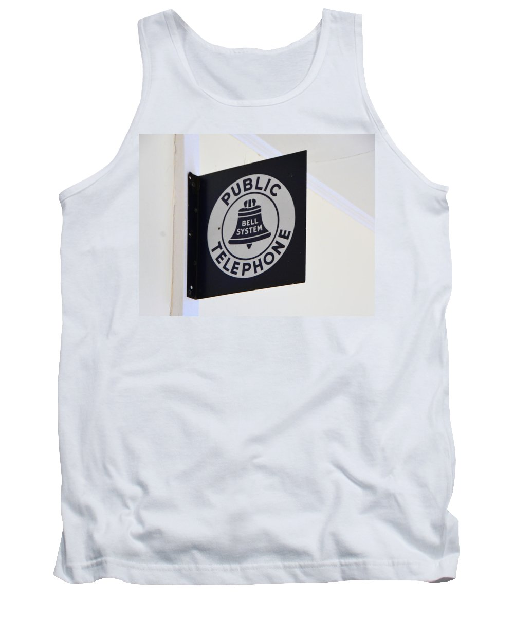 Pay Phone Tank Top featuring the photograph Need To Make A Call by Josephine Buschman