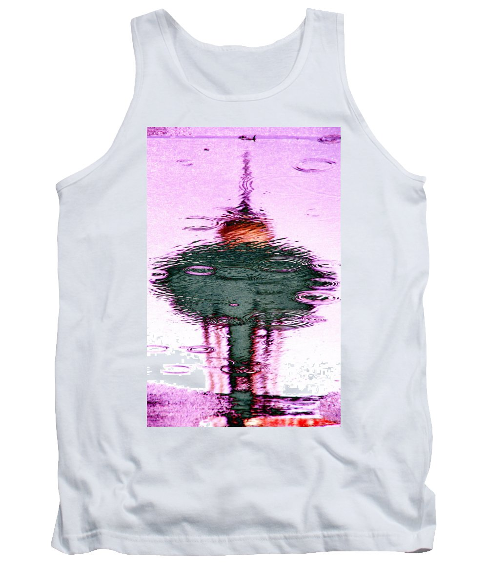 Seattle Tank Top featuring the photograph Needle In A Raindrop Stack 2 by Tim Allen