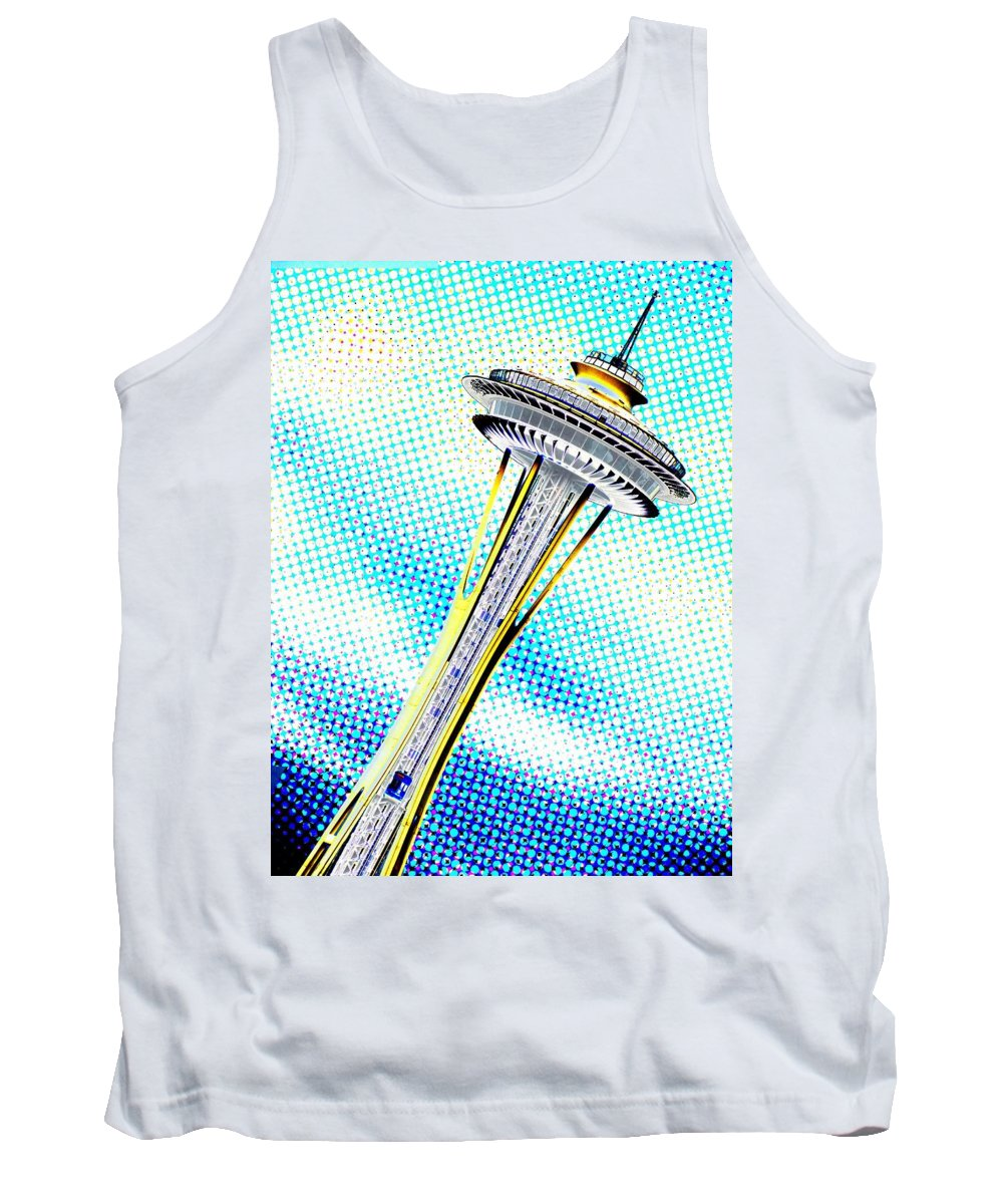Seattle Tank Top featuring the photograph Needle In Newsprint by Tim Allen