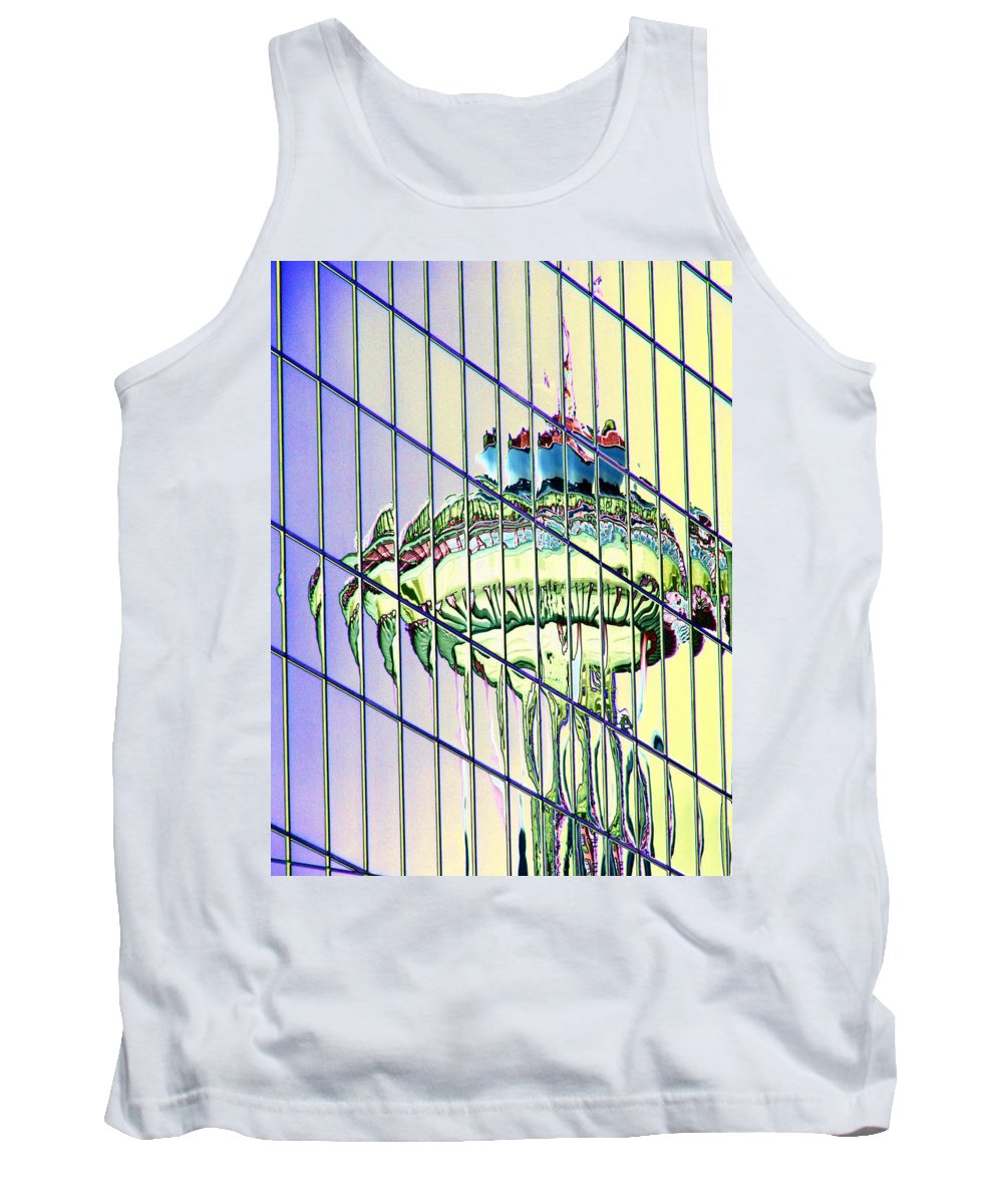 Seattle Tank Top featuring the photograph Needle Reflection 2 by Tim Allen