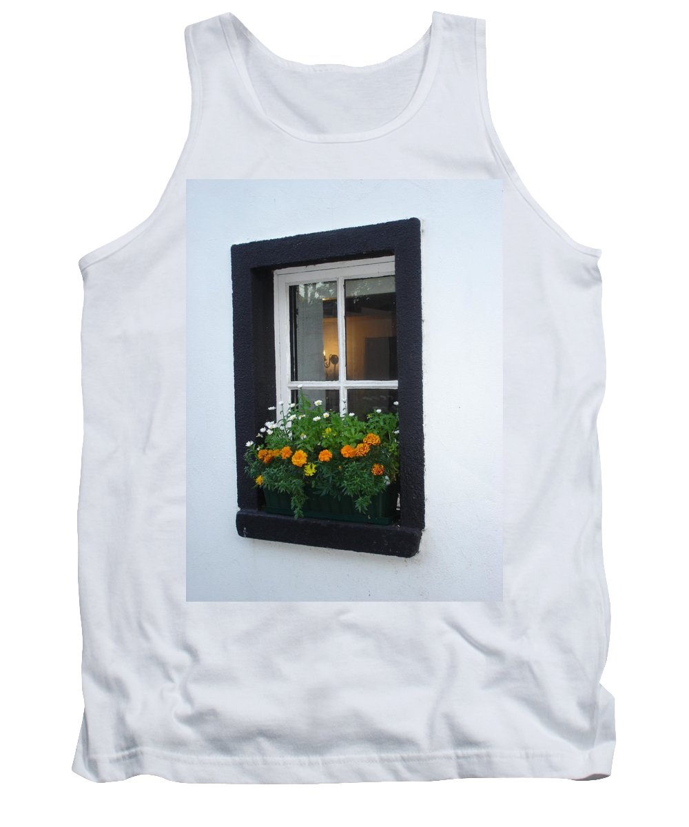 Window Tank Top featuring the photograph Neighbor by Kelly Mezzapelle