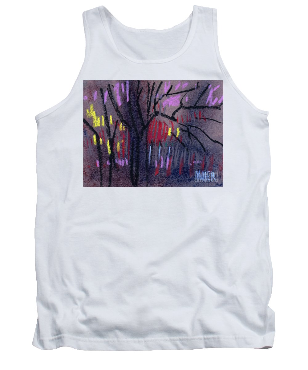 Abstract Tank Top featuring the drawing Neighbor's Lights by Donald Maier