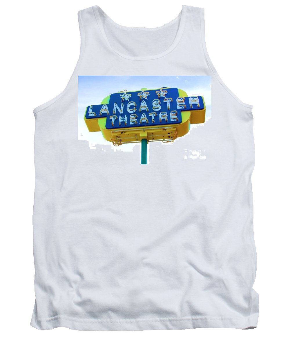 Sign Tank Top featuring the photograph Neon by Debbi Granruth