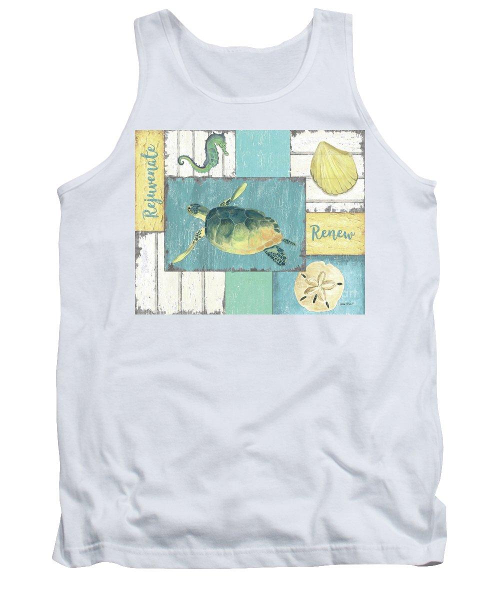 Coastal Tank Top featuring the painting Neptune 1 by Debbie DeWitt