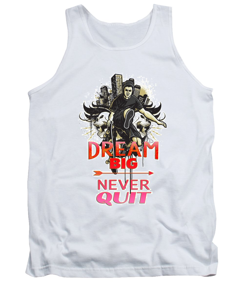 Comics Tank Top featuring the digital art Never Quit by Don Kuing