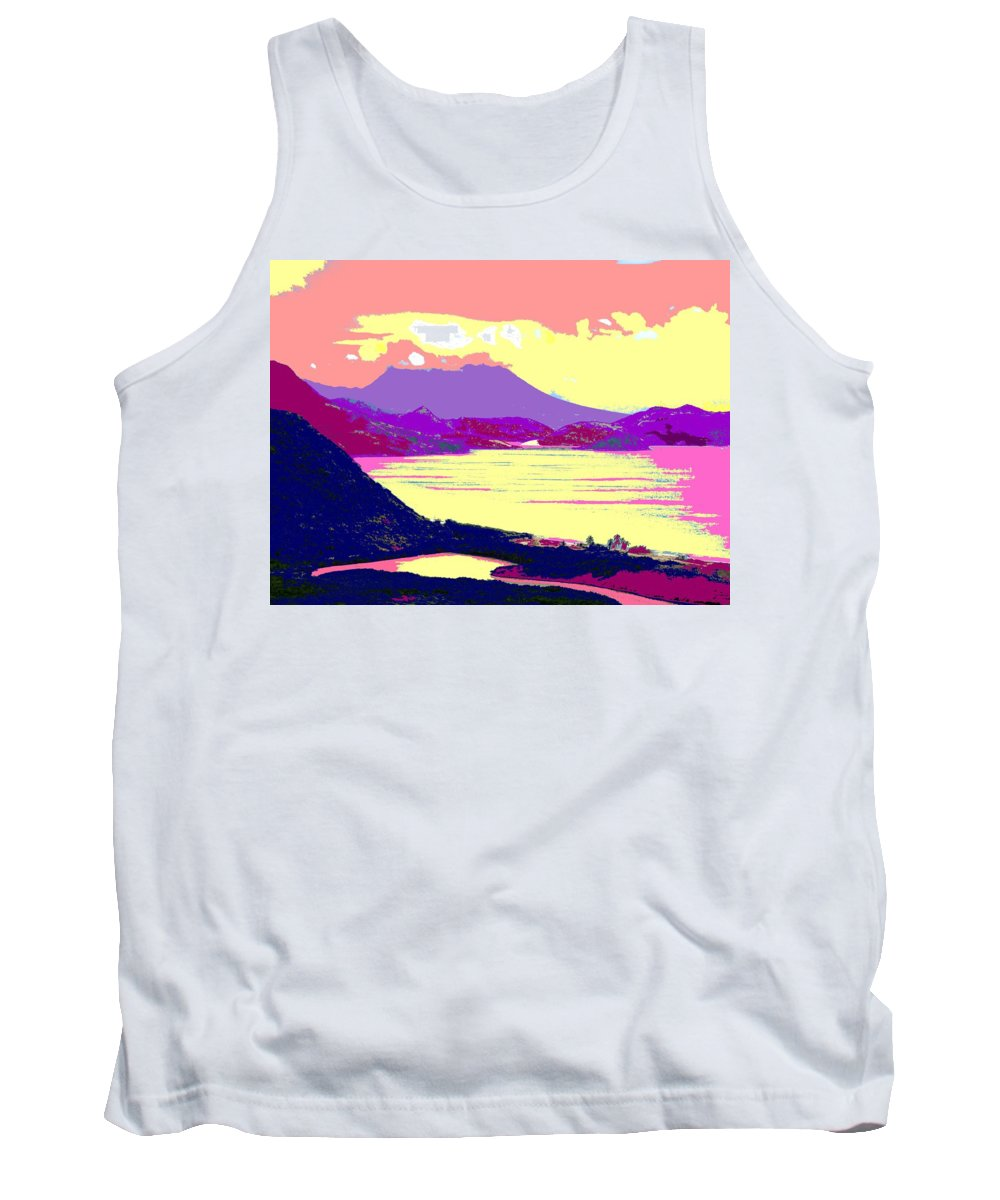Nevis Tank Top featuring the photograph Nevis From The Penninsula by Ian MacDonald