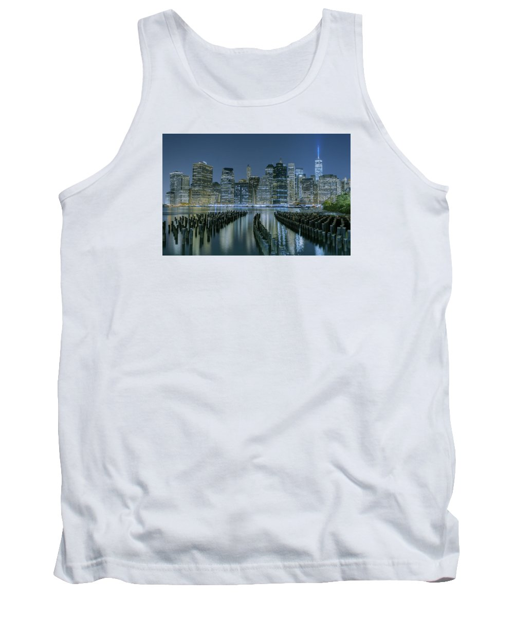 New York City Tank Top featuring the photograph New York City Skyline by Jerome Obille