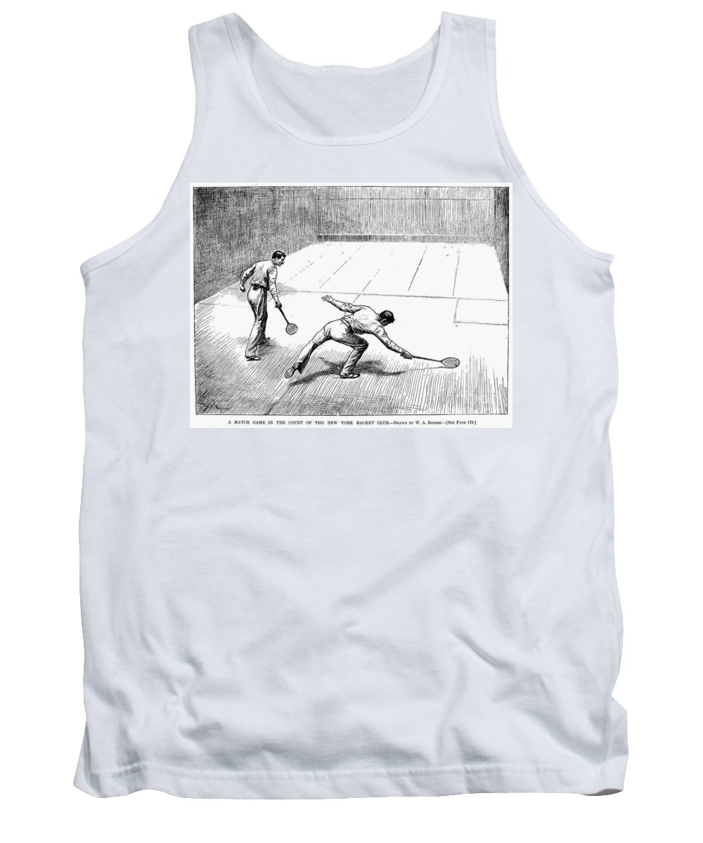 1890 Tank Top featuring the photograph New York Racket Club by Granger