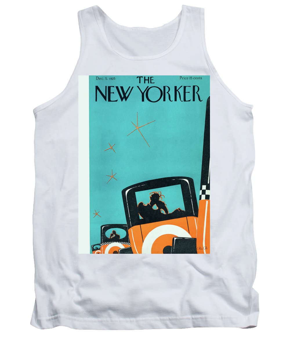 Car Tank Top featuring the painting New Yorker December 5 1925 by Max Ree
