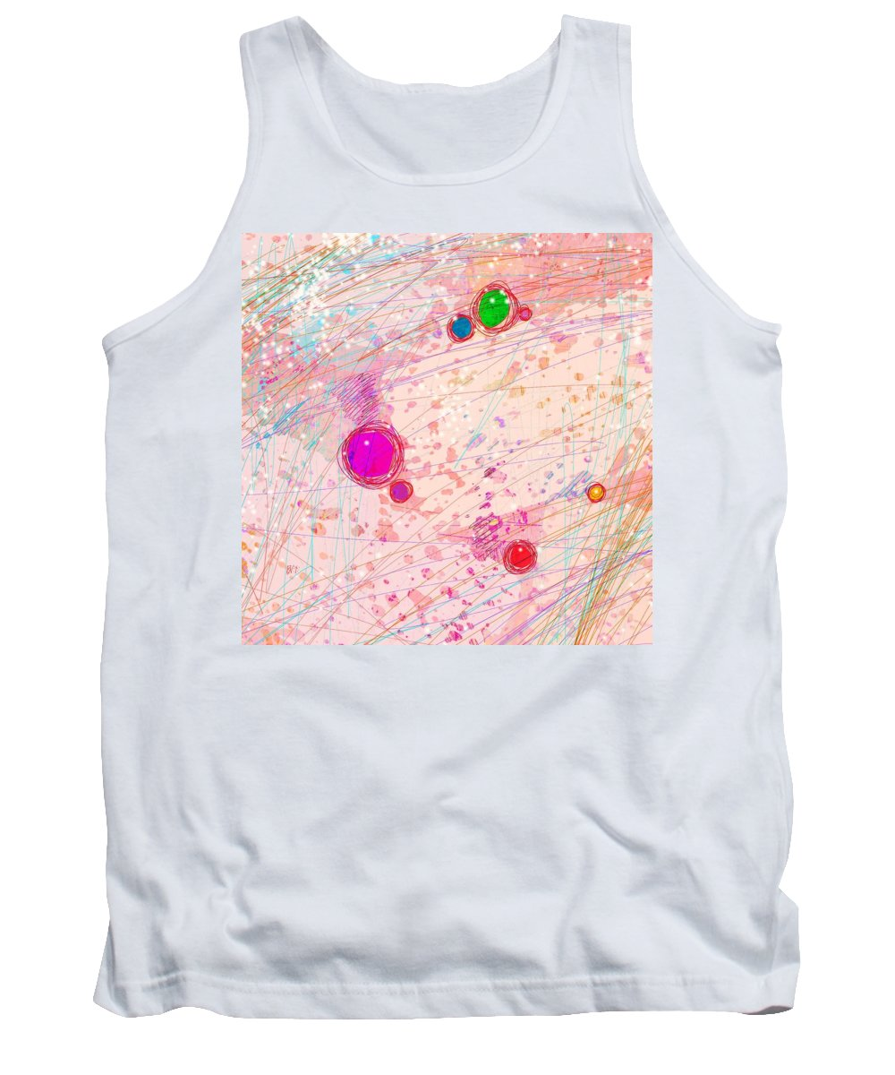 Abstract Tank Top featuring the digital art No Way Out by Rachel Christine Nowicki