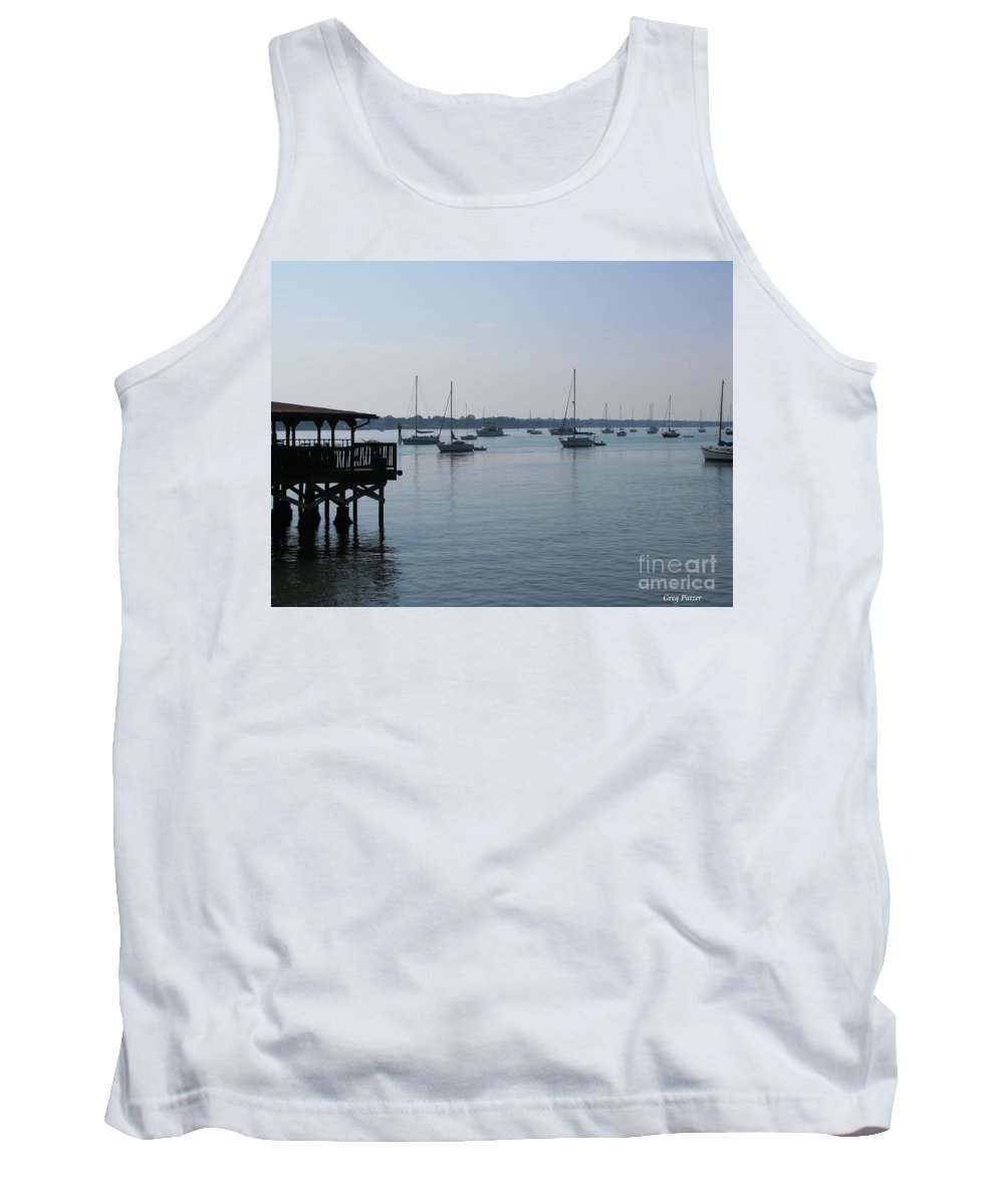 Art For The Wall...patzer Photography Tank Top featuring the photograph No Wind by Greg Patzer