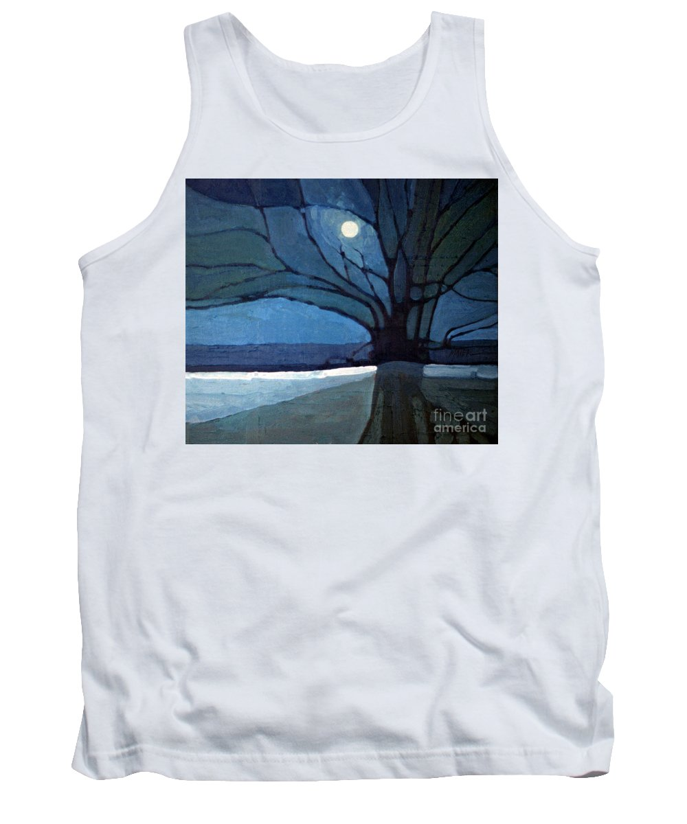 Moonrise Tank Top featuring the painting Nocturne 71 by Donald Maier