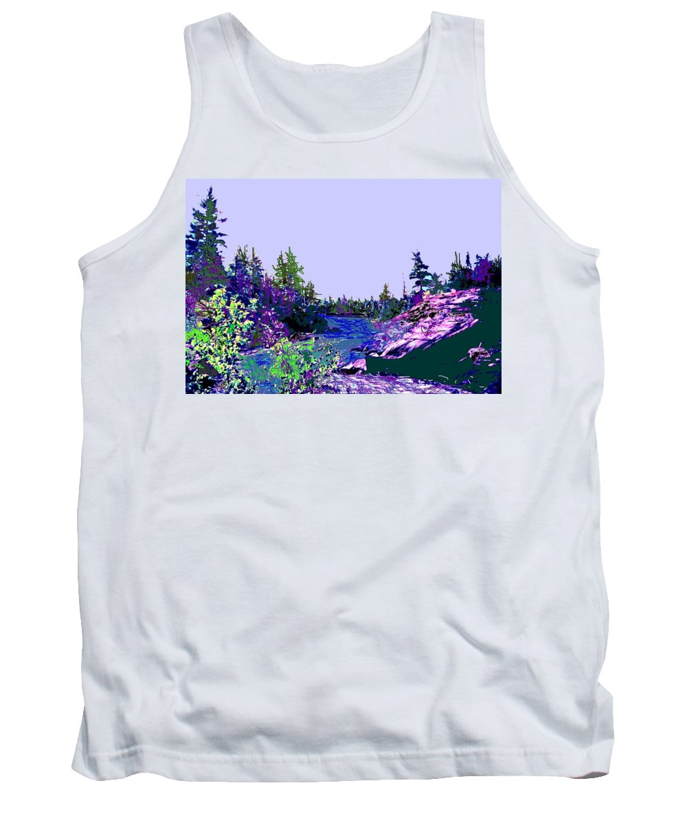 Norlthern Tank Top featuring the photograph Northern Ontario River by Ian MacDonald