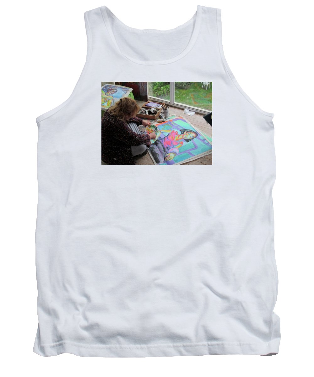 Landscape Tank Top featuring the painting Nude by Raquel Sarangello
