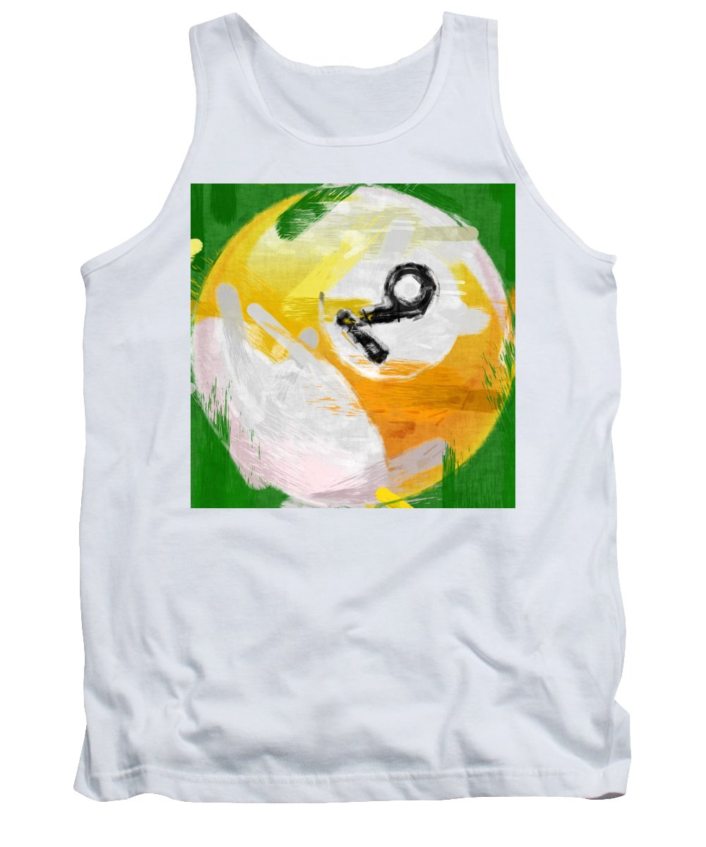 Nine Tank Top featuring the photograph Number Nine Billiards Ball Abstract by David G Paul