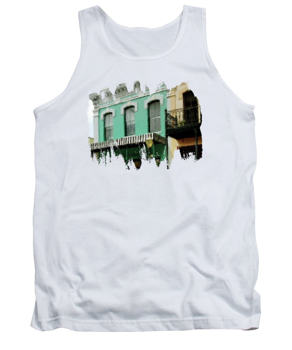 Three Georges Tank Top featuring the digital art Nuthouse by Anita Faye
