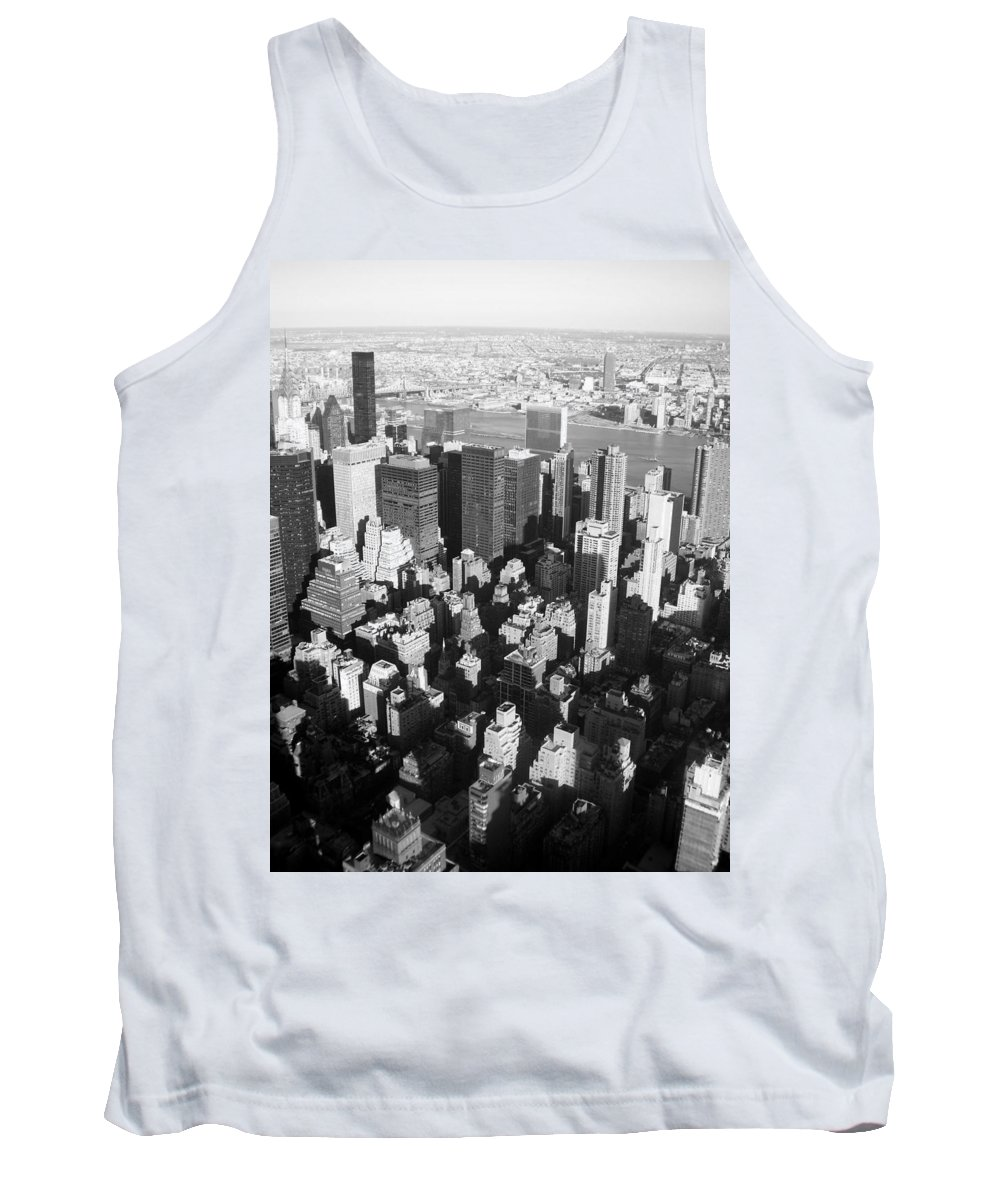 Nyc Tank Top featuring the photograph Nyc Bw by Anita Burgermeister