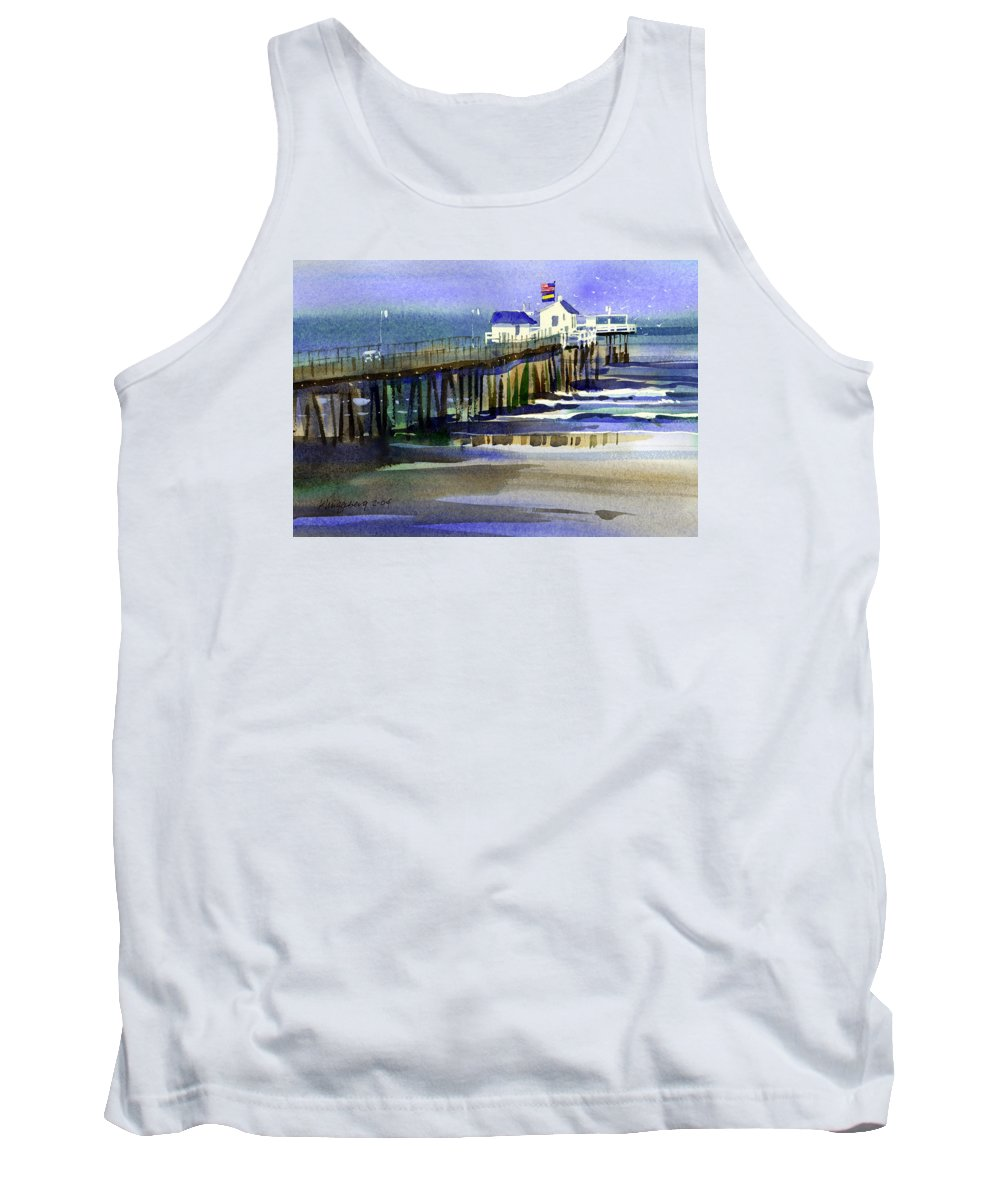Ocean Tank Top featuring the painting Ocean City Fishing Club by Lee Klingenberg