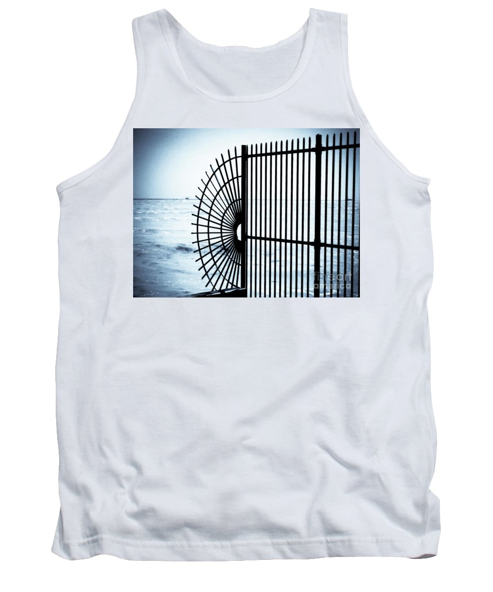 Fence Tank Top featuring the photograph Ocean Fence by Perry Webster