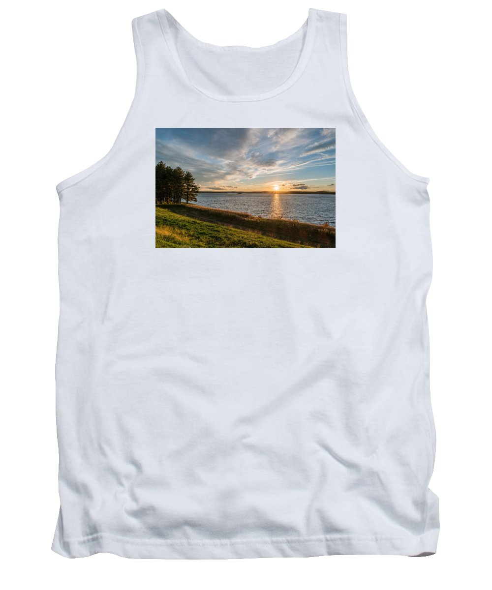 Sunset Tank Top featuring the photograph October Awe by Ronald Raymond