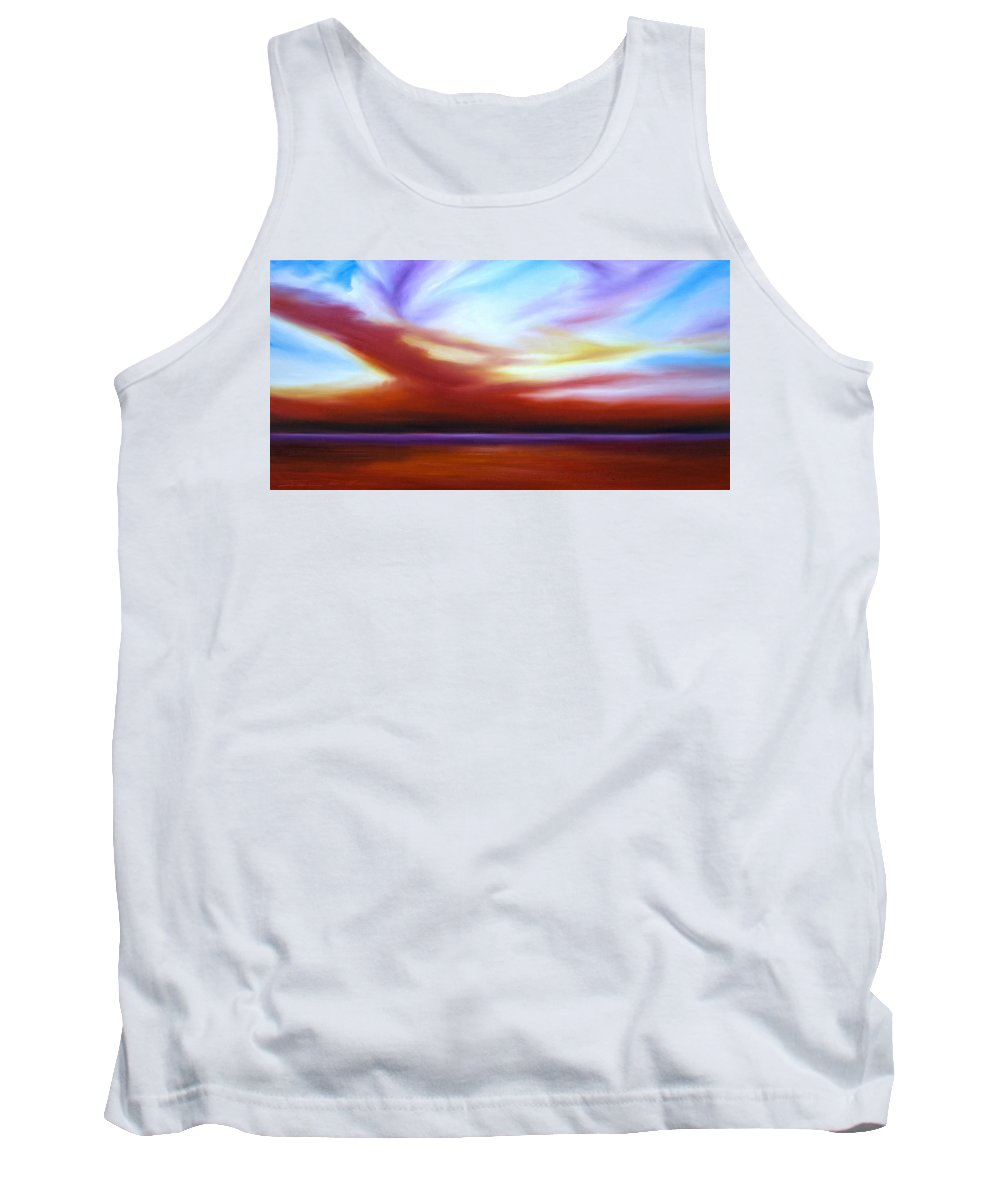 Skyscape Tank Top featuring the painting October Sky III by James Christopher Hill