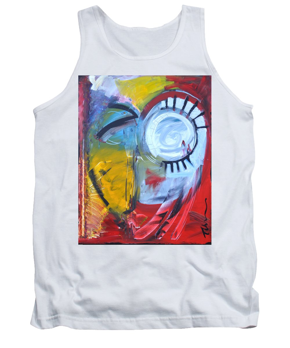 Jim Dine Tank Top featuring the painting Ode To Jim Dine by Tim Nyberg