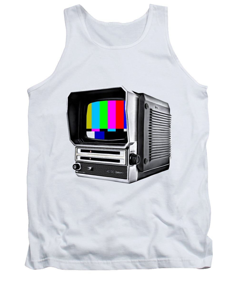 Tv Tank Top featuring the photograph Off Air Tee by Edward Fielding