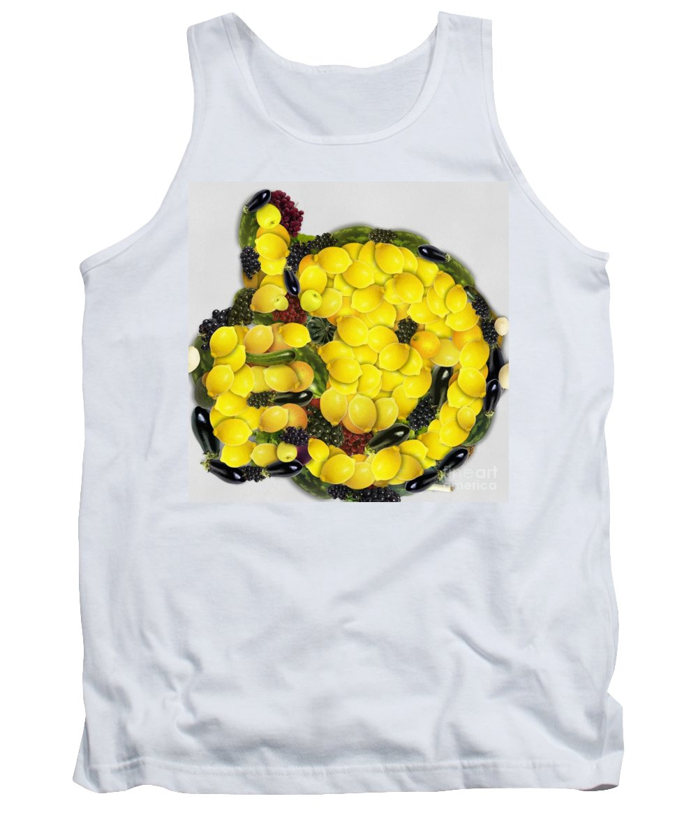 Okee Dokee Vegged Out Tank Top featuring the digital art Okee Dokee Vegged Out by Catherine Lott