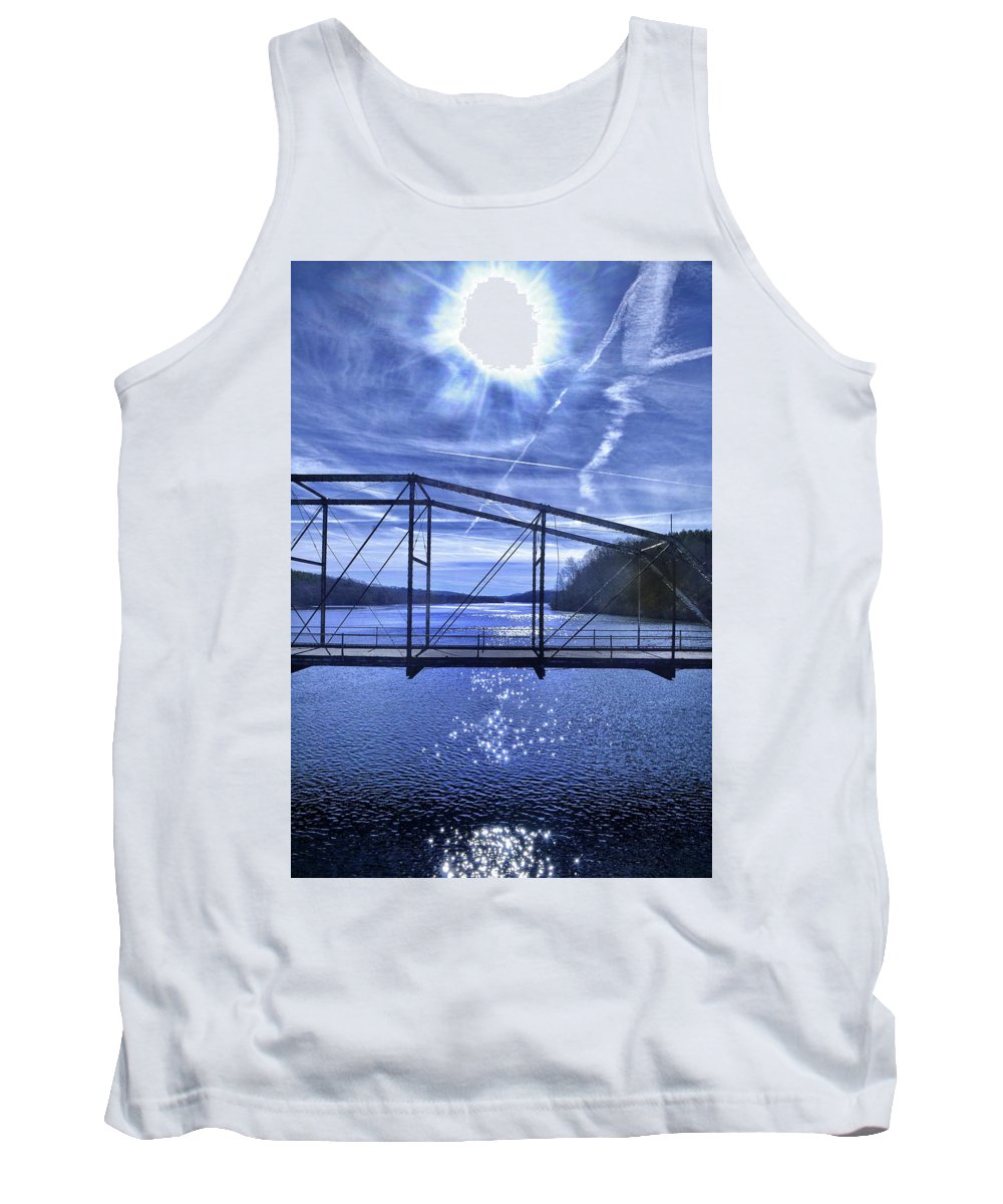 Silhouette Tank Top featuring the photograph Old Bridge Over The Savannah River 001 by George Bostian