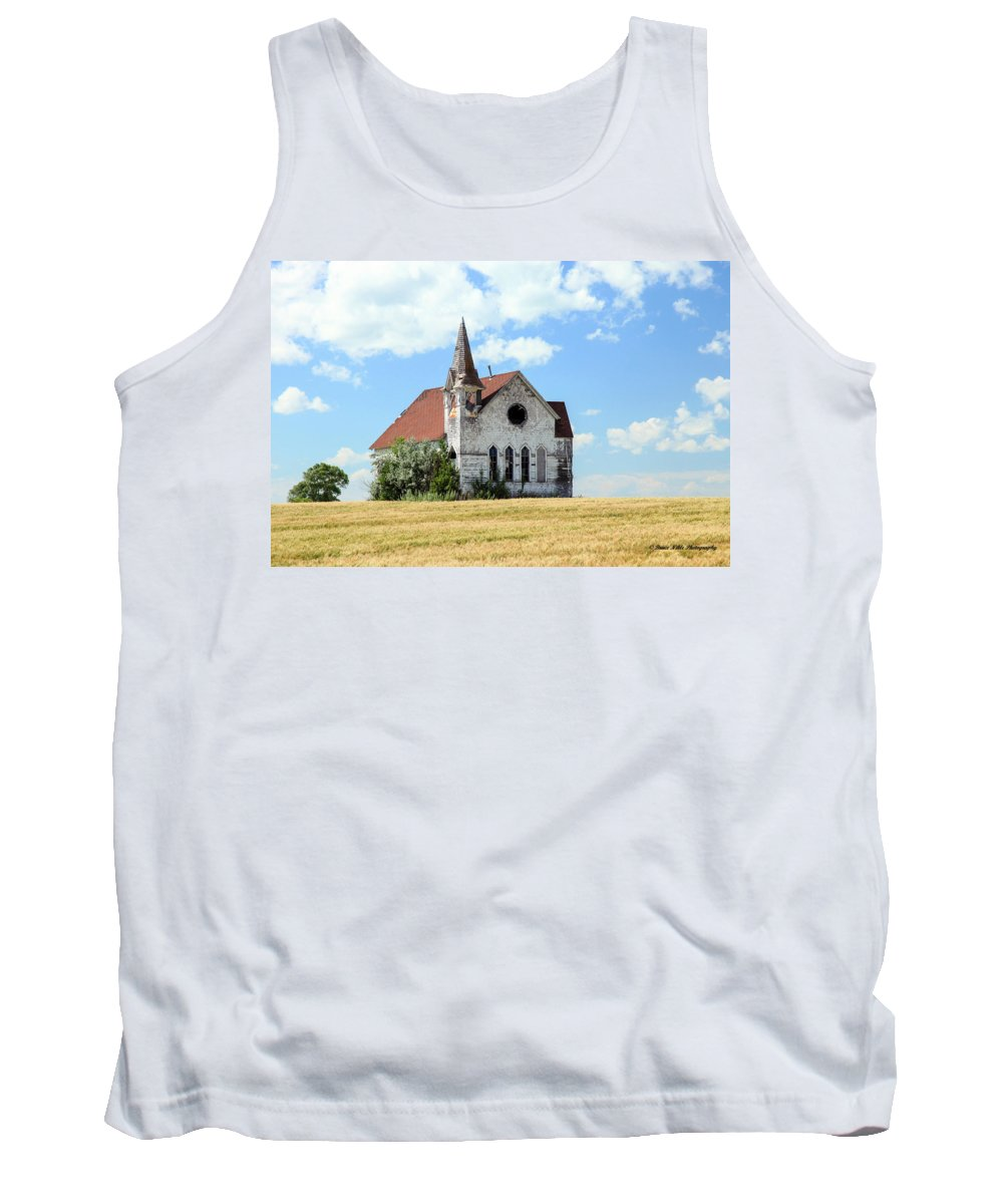 Old Buildings Tank Top featuring the photograph Old Country Church by Bruce Nikle