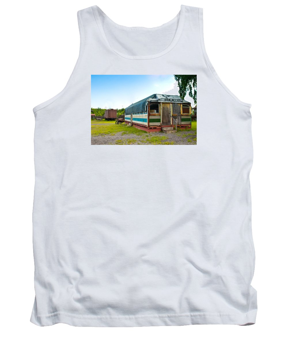 50's Tank Top featuring the photograph Old Diner by Lynne Albright