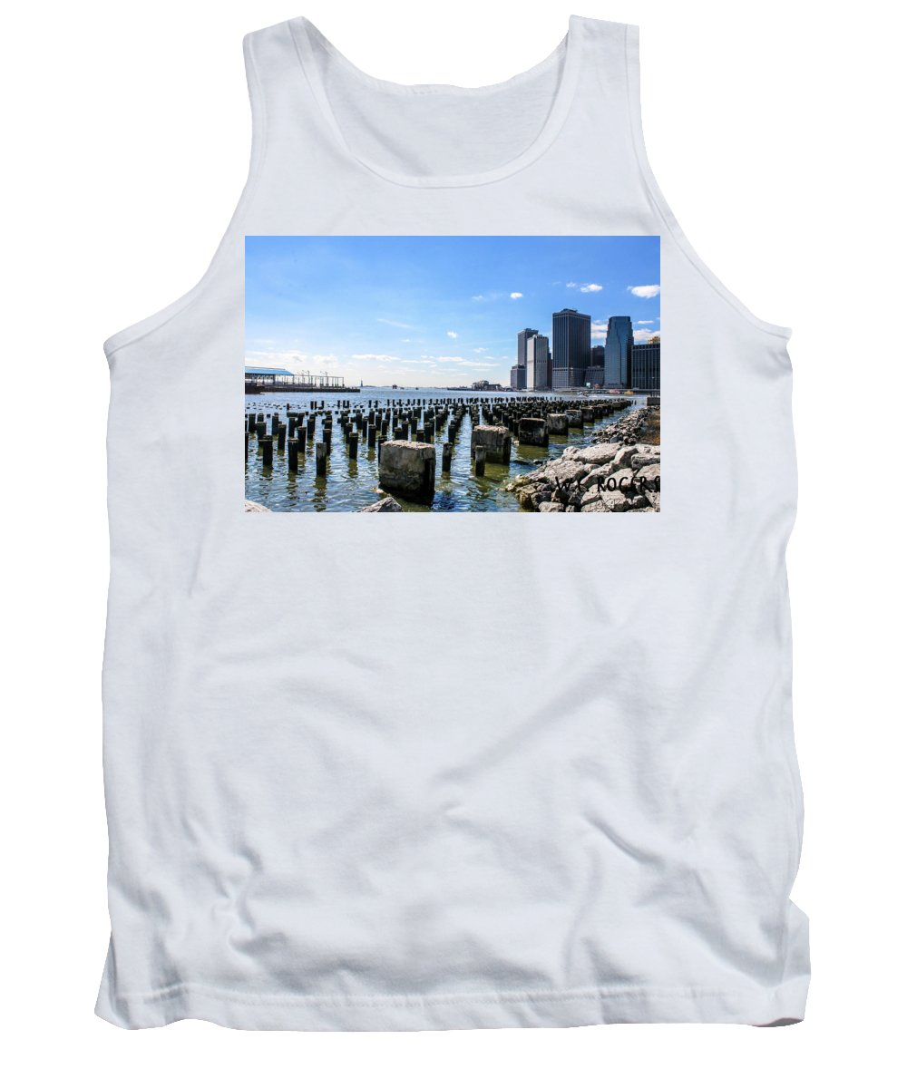 This Is Photo Of The Old Docks On The Brooklyn Side Of New York City. Tank Top featuring the photograph Old Docks by William Rogers