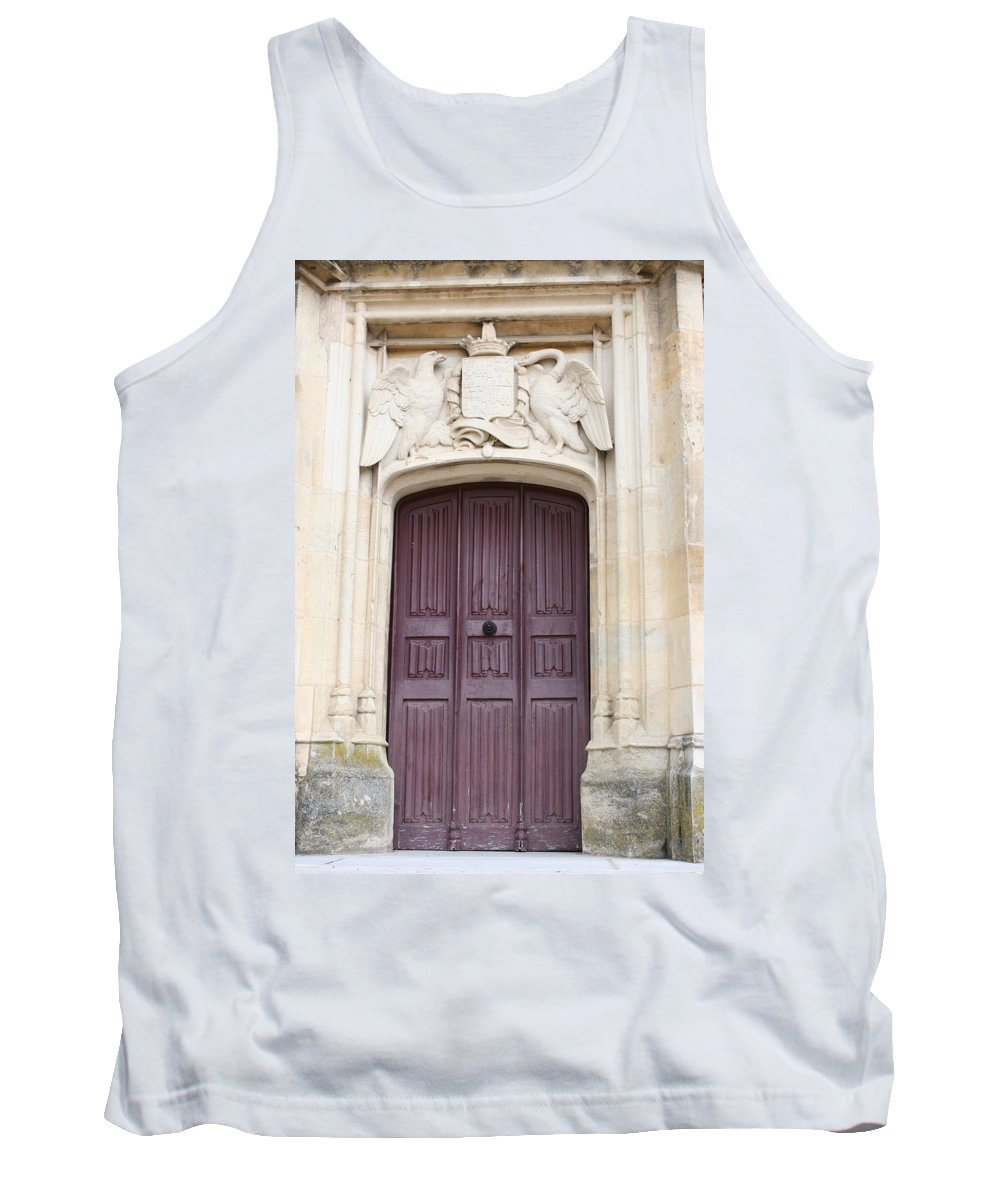 Door Tank Top featuring the photograph Old Door With Swan Relief by Christiane Schulze Art And Photography