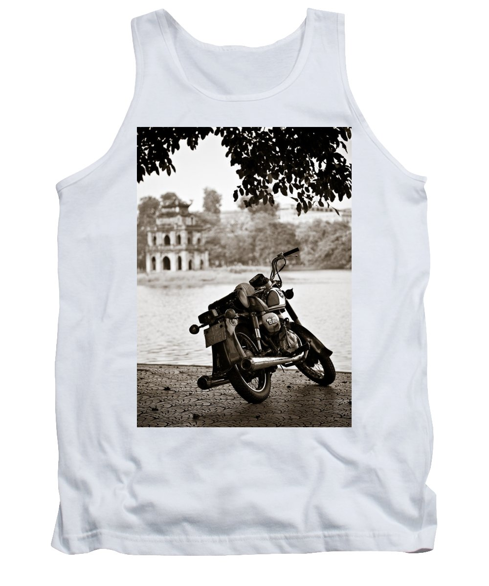 Honda Tank Top featuring the photograph Old Honda by Dave Bowman