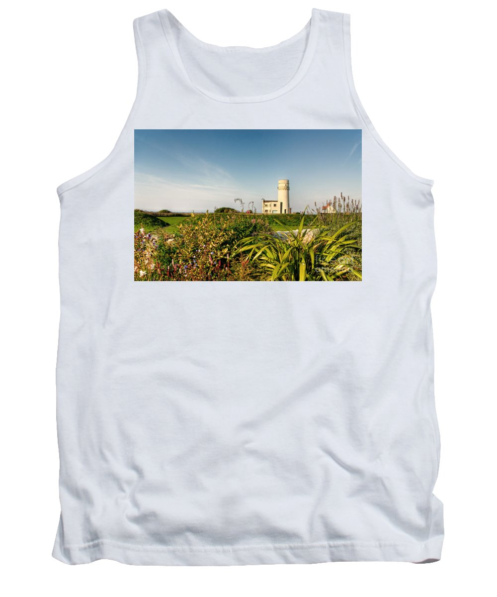 Lighthouse Tank Top featuring the photograph Old Hunstanton Lighthouse North Norfolk Uk by John Edwards