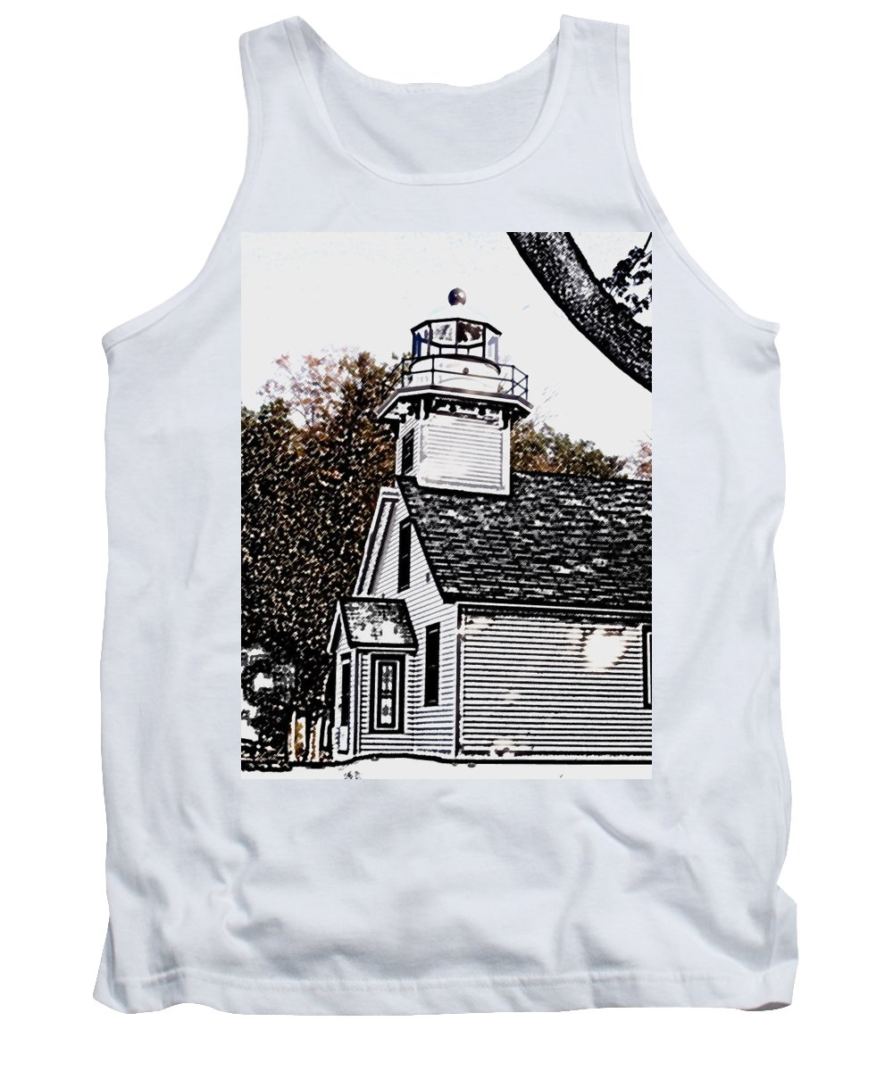 Altered Tank Top featuring the photograph Old Mission Point by Wayne Potrafka