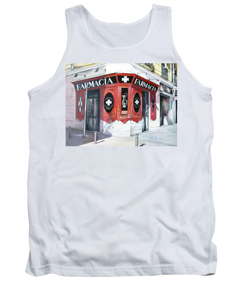 Pharmacy Tank Top featuring the painting Old Pharmacy by Tomas Castano