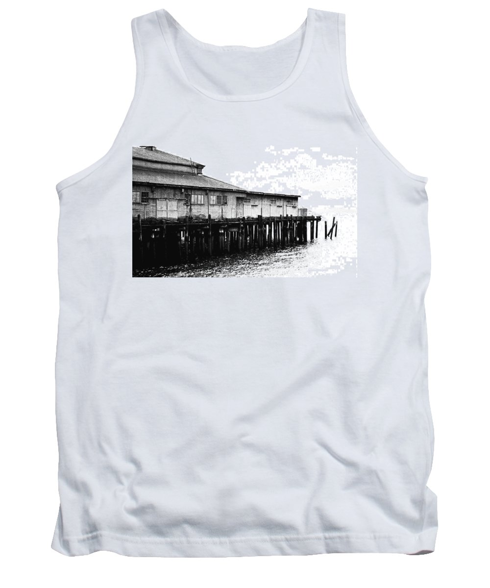 History Tank Top featuring the photograph Old Pier by Karen Ulvestad